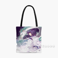 Haku Spirited Away Custom Personalized Tote Bag Polyester with Small Medium Large Size
