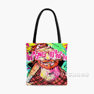Hotline Miami 2 Wrong Number Face Colorful Custom Personalized Tote Bag Polyester with Small Medium Large Size