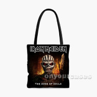 Iron Maiden The Book of Souls Fire Custom Personalized Tote Bag Polyester with Small Medium Large Size