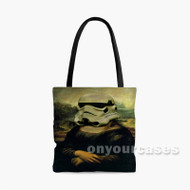 Monalisa Stormtrooper Custom Personalized Tote Bag Polyester with Small Medium Large Size