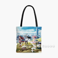 Puella Magi Madoka Magica Girls Custom Personalized Tote Bag Polyester with Small Medium Large Size