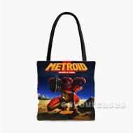Return of Samus Metroid Custom Personalized Tote Bag Polyester with Small Medium Large Size