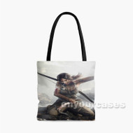 Rise of the Tomb Raider Blood Custom Personalized Tote Bag Polyester with Small Medium Large Size