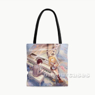 Shigatsu wa Kimi no Uso Your Lie in April Custom Personalized Tote Bag Polyester with Small Medium Large Size