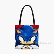Sonic The Hedgehog Custom Personalized Tote Bag Polyester with Small Medium Large Size