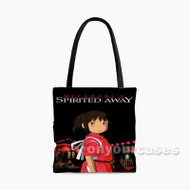 Spirited Away Studio Ghibli Night Custom Personalized Tote Bag Polyester with Small Medium Large Size