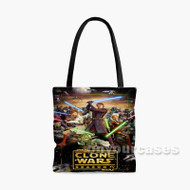 Star Wars The Clones Wars All Characters With Sword Custom Personalized Tote Bag Polyester with Small Medium Large Size