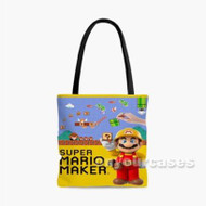Super Mario Maker Custom Personalized Tote Bag Polyester with Small Medium Large Size