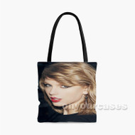 Taylor Swift Red Lips Custom Personalized Tote Bag Polyester with Small Medium Large Size