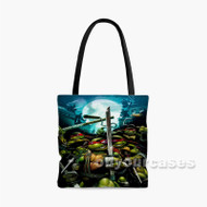 Teenage Mutant Ninja Turtles Ready Fighting Custom Personalized Tote Bag Polyester with Small Medium Large Size