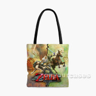 The Legend of Zelda Twilight Princes Custom Personalized Tote Bag Polyester with Small Medium Large Size