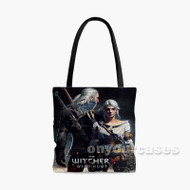 The Witcher 3 Wild Hunt Geralt and Ciri Custom Personalized Tote Bag Polyester with Small Medium Large Size