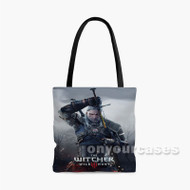 The Witcher 3 Wild Hunt Geralt Custom Personalized Tote Bag Polyester with Small Medium Large Size