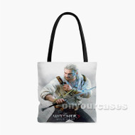 The Witcher 3 Wild Hunt Sword Custom Personalized Tote Bag Polyester with Small Medium Large Size