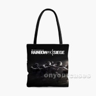 Tom Clancy s Rainbow Six Siege Black Custom Personalized Tote Bag Polyester 1 with Small Medium Large Size