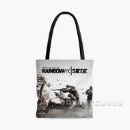 Tom Clancy s Rainbow Six Siege White Custom Personalized Tote Bag Polyester 1 with Small Medium Large Size
