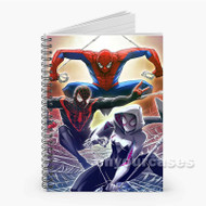 Spiderman Characters Custom Personalized Spiral Notebook Cover