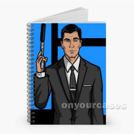 Sterling Archer Custom Personalized Spiral Notebook Cover