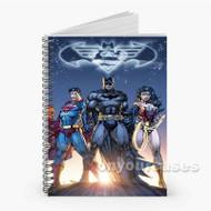 Superman Batman Wonder Woman Custom Personalized Spiral Notebook Cover