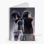 Uchiha Sasuke and Itachi Naruto Shippuden Custom Personalized Spiral Notebook Cover