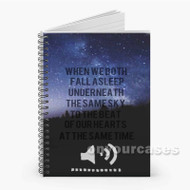 5 Seconds of Summer Beside You Lyrics Custom Personalized Spiral Notebook Cover