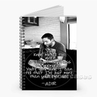 A Day to Remember Lyrics End of me Custom Personalized Spiral Notebook Cover