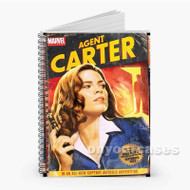 Agent Carter SHIELD Custom Personalized Spiral Notebook Cover