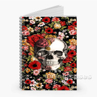 Floral Skull Custom Personalized Spiral Notebook Cover