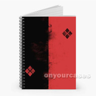 Harley Quinn Diamond The Joker Batman Custom Personalized Spiral Notebook Cover