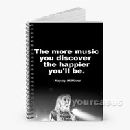 Hayley Williams Quotes Custom Personalized Spiral Notebook Cover