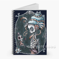 Love and Death Floral Sugar Skull Custom Personalized Spiral Notebook Cover