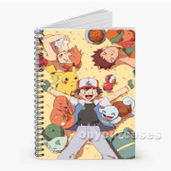 Pokemon Ash and Friends Custom Personalized Spiral Notebook Cover