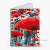 Poppy Love Custom Personalized Spiral Notebook Cover