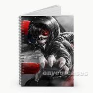 Tokyo Ghoul Kaneki Ken Red Eyes Custom Personalized Spiral Notebook Cover