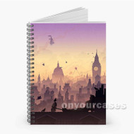 Wind s In The East Mary Poppins Custom Personalized Spiral Notebook Cover