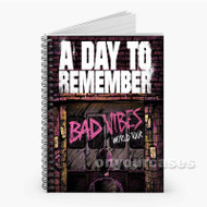 A Day To Remember Bad Vibes Tour Custom Personalized Spiral Notebook Cover