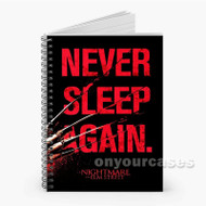 A Nightmare On Elm Street Never Sleep Again Custom Personalized Spiral Notebook Cover