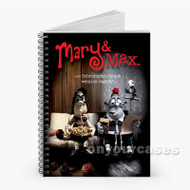 Mary and Max Custom Personalized Spiral Notebook Cover