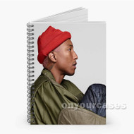 Pharell Williams Custom Personalized Spiral Notebook Cover