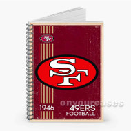 San Francisco 49ers NFL 1946 Custom Personalized Spiral Notebook Cover