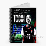 Tobin Heath USWNT Custom Personalized Spiral Notebook Cover