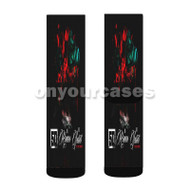 50 Cent No Romeo No Juliet feat Chris Brown Custom Sublimation Printed Socks Polyester Acrylic Nylon Spandex with Small Medium Large Size