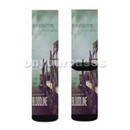 Bloodline Custom Sublimation Printed Socks Polyester Acrylic Nylon Spandex with Small Medium Large Size