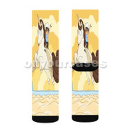 Bob s Burgers Unicorn Custom Sublimation Printed Socks Polyester Acrylic Nylon Spandex with Small Medium Large Size