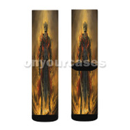 Dark Souls 3 Red Knight Custom Sublimation Printed Socks Polyester Acrylic Nylon Spandex with Small Medium Large Size