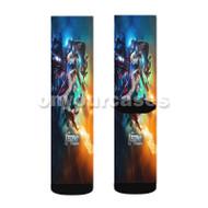 DC s Legends of Tomorrow Custom Sublimation Printed Socks Polyester Acrylic Nylon Spandex with Small Medium Large Size