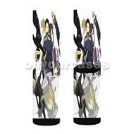 Durarara x2 Ketsu Custom Sublimation Printed Socks Polyester Acrylic Nylon Spandex with Small Medium Large Size