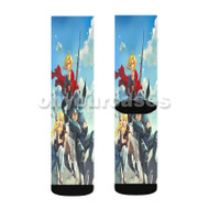 Edward Elric Alphonse Elric Winry Rockbell Fullmetal Alchemist B Custom Sublimation Printed Socks Polyester Acrylic Nylon Spandex with Small Medium Large Size