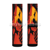 Fooly Cooly Custom Sublimation Printed Socks Polyester Acrylic Nylon Spandex with Small Medium Large Size