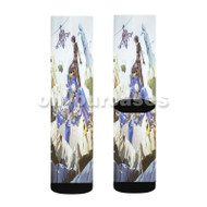Ghost In The Shell Stand Alone Complex Custom Sublimation Printed Socks Polyester Acrylic Nylon Spandex with Small Medium Large Size